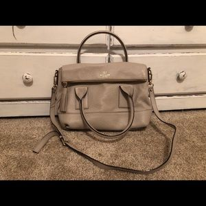 Light grey Kate Spade bag